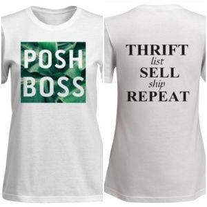 "Anvil Tops - 🆕️POSH BOSS ""Thrift, Sell, Repeat"" T-Shirt🆕️"